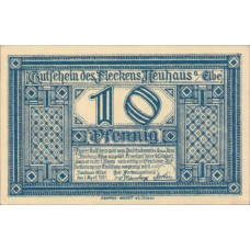 Neuhaus a.d. Elbe Flecken, 1x10pf, 1x25pf, 1x50pf, Set of 3 Notes, 946.1