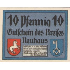 Neuhaus a. Oste Kreis, 1x10pf, 1x25pf, 1x50pf, Set of 3 Notes, 947.1