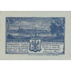 Neuruppin Stadt, 1x25pf, 3x50pf, Set of 4 Notes, 959.3