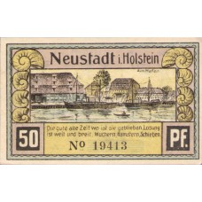 Neustadt i. Holstein Stadt, 4x50pf, Set of 4 Notes, 963.2a