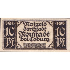 Neustadt Sa.-Coburg Stadt, 1x10pf, Set of 1 Note, N26.5