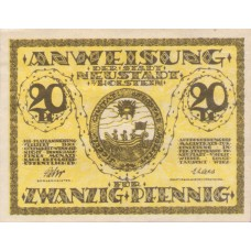 Neustadt i. Holstein Stadt, 1x20pf, Set of 1 Note, N28.2