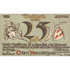 Oberammergau Gemeinde, 1x25pf, 1x50pf, 1x75pf, Set of 3 Notes, 992.2a