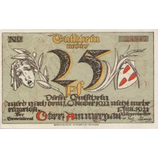 Oberammergau Gemeinde, 1x25pf, 1x50pf, 1x75pf, Set of 3 Notes, 992.3