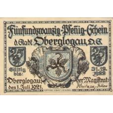 Oberglogau Stadt, 1x25pf, 1x50pf, 1x75pf, Set of 3 Notes, 994.1b