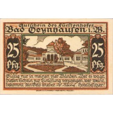 Oeynhausen Bad W Klütsch Hotel Fürstenhof, 1x25pf, 1x50pf, Set of 2 Notes, 1009.1