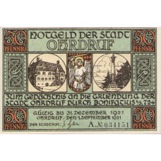 Ohrdruf, 6x50pf, Set of 6 Notes, 1012.4