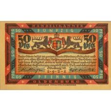 Oldenburg i.O. Handelskammer, 6x50pf.Orange SN, Red also available much rarer, Set of 6 Notes, 1017.1b