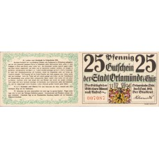 Orlamünde Stadt, 1x25pf, 6x50pf, Set of 7 Notes, 1025.1a