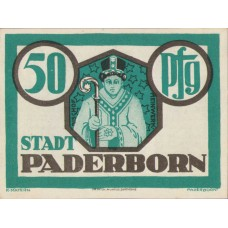 Paderborn Stadt, 1x50pf, 1x75pf, 1x1mk, 1x2mk, Set of 4 Notes, 1043.1
