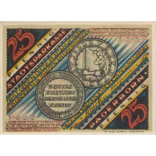 Paderborn Stadt, 1x25pf, 1x50pf, 1x75pf, 1x1mk, 1x2mk, Set of 5 Notes, 1043.3