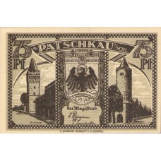Patschkau Stadt, 1x75pf, 1x1mk, Set of 2 Notes, 1052.2
