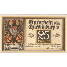 Quedlinburg Stadt, 1x25pf, 3x50pf, Set of 4 Notes, 1087.1c
