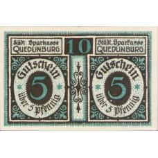 Quedlinburg Städtische Sparkasse, 1x10pf, Set of 1 Note, 1088.1