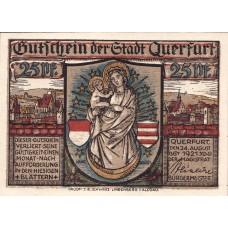 Querfurt Stadt, 1x25pf, 1x75pf, 2x1mk, Set of 4 Notes, 1090.1