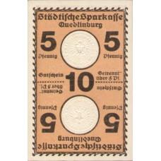 Quedlinburg Städtische Sparkasse, 1x10pf, Set of 1 Note, Q2.1