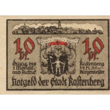 Rastenberg Stadt, 1x10pf, 2x25pf, Set of 3 Notes, 1097.1b