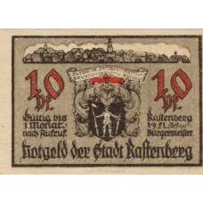 Rastenberg Stadt, 1x10pf, 2x25pf, Set of 3 Notes, 1097.1b