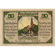 Rathenow Stadt, 2x50pf, 2x75pf, 2x90pf, Set of 6 Notes, 1099.1