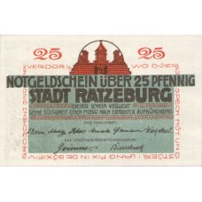 Ratzeburg Stadt, 1x25pf, 1x50pf, Set of 2 Notes, 1101.1