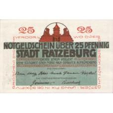 Ratzeburg Stadt, 1x25pf, 1x50pf, Set of 2 Notes, 1101.1
