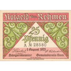Rehmen Gemeinde, 2x25pf, 4x50pf, Set of 6 Notes, 1108.1
