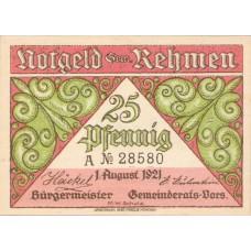 Rehmen Gemeinde, 2x25pf, 4x50pf, Set of 6 Notes, 1108.1