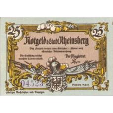 Rheinsberg Stadt, 1x25pf, 2x50pf, 1x75pf, Set of 4 Notes, 1120.1a