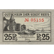 Rees Stadt, 1x25pf, 1x50pf, Set of 2 Notes, R14.2