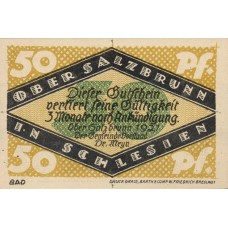 Ober-Salzbrunn Gemeinde, 5x50pf, Set of 5 Notes, 1000.1