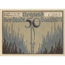 Saalfeld Stadt, 3x50pf, Set of 3 Notes, 1155.4
