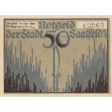 Saalfeld Stadt, 3x50pf, Set of 3 Notes, 1155.4