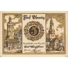 Sangerhausen Stadt, 1x5pf, 1x10pf, Set of 2 Notes, 1163.1a