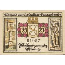 Sangerhausen Stadt, 1x25pf, 1x50pf, Set of 2 Notes, 1163.1b