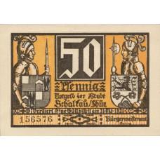 Schaltau Stadt, 6x50pf, Set of 6 Notes, 1171.1