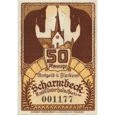 Scharmbeck Stadt, 2x50pf, Set of 2 Notes, 1173.1