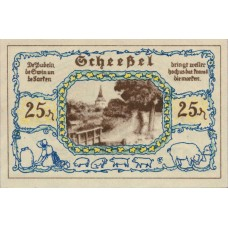 Scheeßel Gemeinde, 1x25pf, 1x50pf, Set of 2 Notes, 1174.1b with Bst A