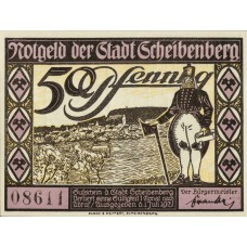 Scheibenberg Stadt, 6x50pf, Set of 6 Notes, 1175.1a