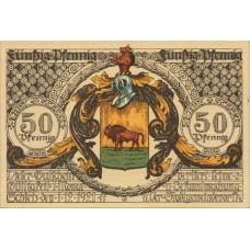 Schleiz Stadt, 8x50pf, Set of 8 Notes, 1180.1