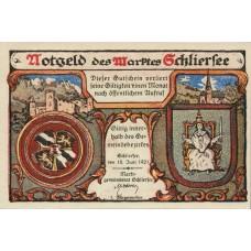 Schliersee Marktgemeinde, 1x10pf, 1x25pf, Set of 2 Notes, 1182.1
