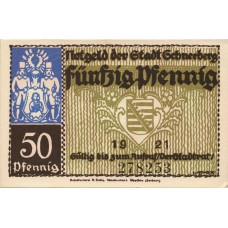 Schneeberg Stadt, 6x50Pf, Set of 6 Notes, 1190.1a