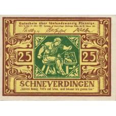 Schneverdingen Sparkasse, 1x25pf, 1x50pf, Set of 2 Notes, 1193.1