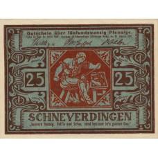 Schneverdingen Sparkasse, 1x25pf, 1x50pf, Set of 2 Notes, 1193.2