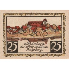 Schönberg Stadt, 1x25pf, 1x50pf, Set of 2 Notes, 1195.1