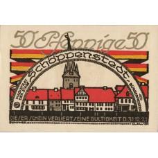 Schöppenstedt Stadt, 10x50pf, Set of 10 Notes, 1199.1a