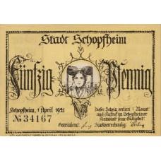 Schopfheim Stadt, 6x50pf, Set of 6 Notes, 1201.1