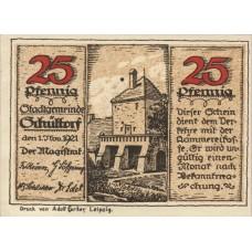 Schüttorf Stadt, 1x25pf, 1x50pf, 1x75pf, 1x1mk, Set of 4 Notes, 1202.1