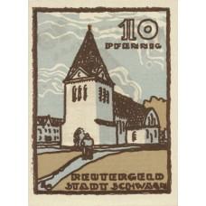 Schwaan Stadt, 1x10pf, 1x25pf, 1x50pf, Set of 3 Notes, 1203.2