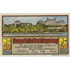 Segeberg Spar und Leihkasse der Stadt, 1x25pf, 1x50pf, Set of 2 Notes, 1218.1