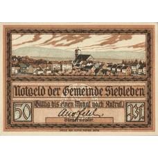 Siebleben Gemeinde, 4x50pf, Set of 4 Notes, 1222.1b